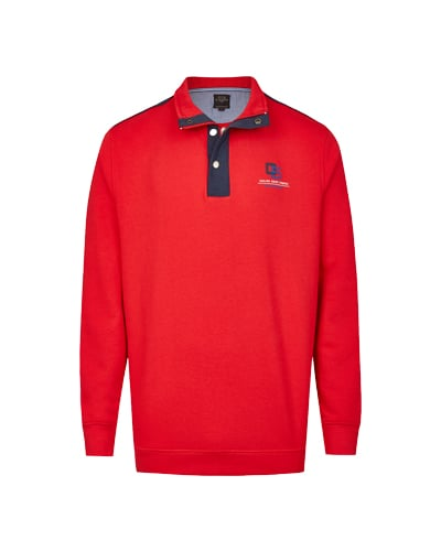 Poloshirt im Smart Look rot